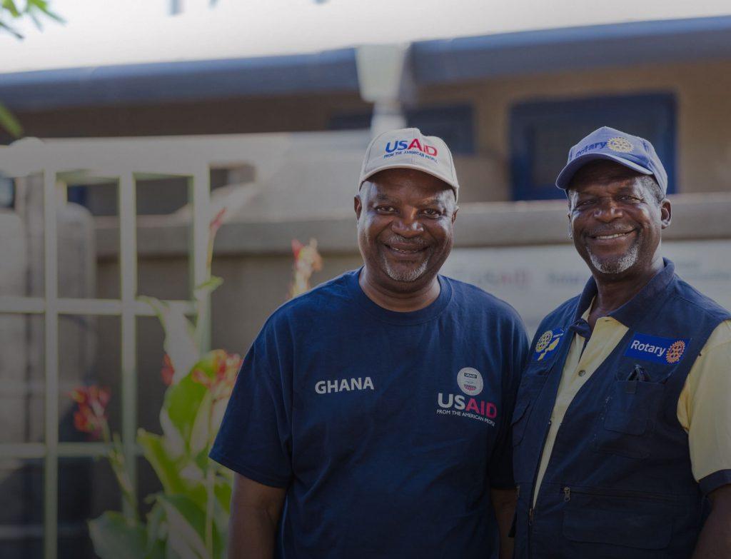 Emmanuel Odotei, USAID Ghana (l) & Ako Odotei, Rotary Ghana